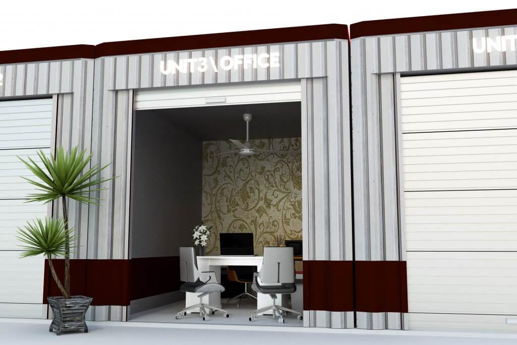 a self storage office