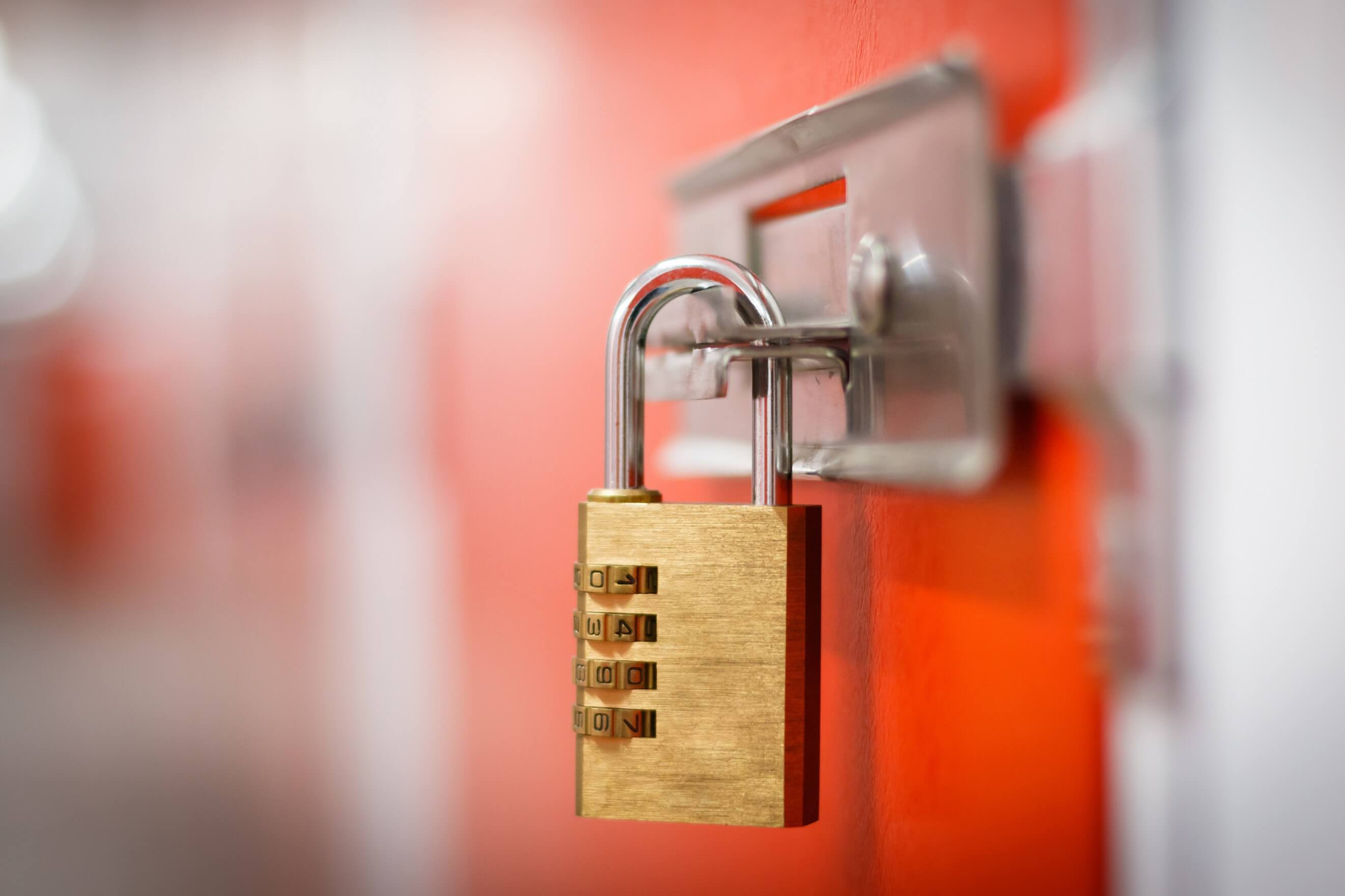 Secure Lockup for storage with padlock