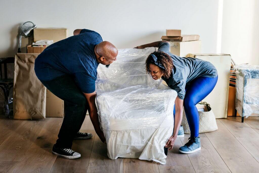 Couple Remove Furniture